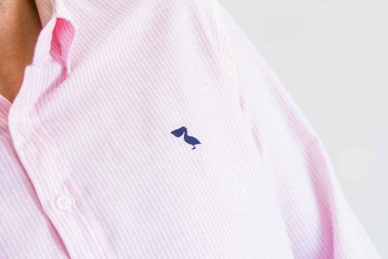 line pink navy detail