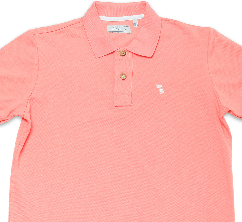 Polo Shirt Pelican Coral White Lpkn Clothes Made In Spain